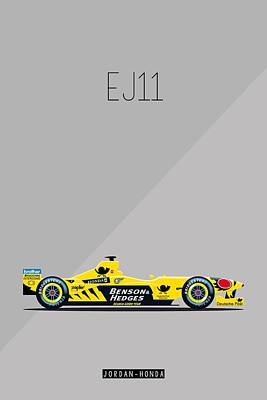 Painting - Jordan Honda Ej11 F1 Poster by Beautify My Walls