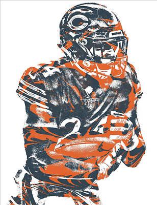 Mixed Media - Jordan Howard Chicago Bears Pixel Art 1 by Joe Hamilton