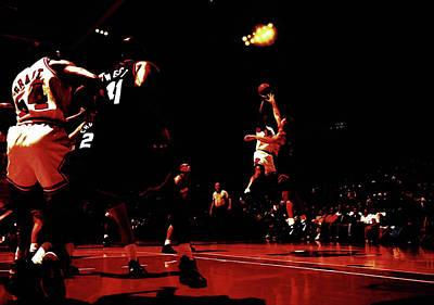 John Stockton Mixed Media - Jordan Kill Shot by Brian Reaves