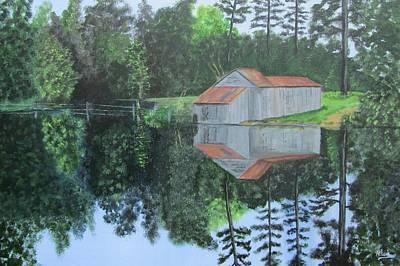 Grist Mill Painting - Jordan Mill Pond by Robert Clark