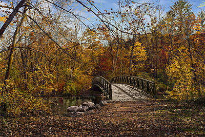 Photograph - Jordan Park Bridge by Judy Johnson