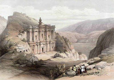 Drawing - Jordan, Petra, 1839. by Granger