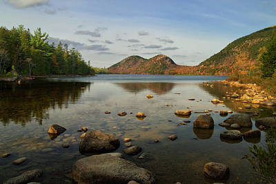 Art Print featuring the photograph Jordan Pond 1 by Arthur Dodd