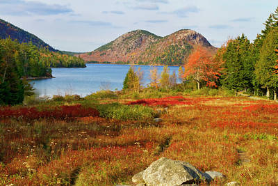 Art Print featuring the photograph Jordan Pond 2 by Arthur Dodd