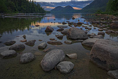Solitude Photograph - Jordan Pond Afterglow by Rick Berk