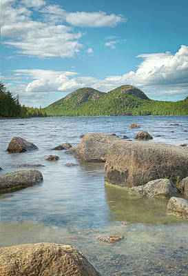 Photograph - Jordan Pond And The Bubbles by Brian Caldwell