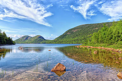 Photograph - Jordan Pond And The Bubbles by John M Bailey