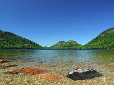Jordan Pond And The Bubbles Art Print by Juergen Roth