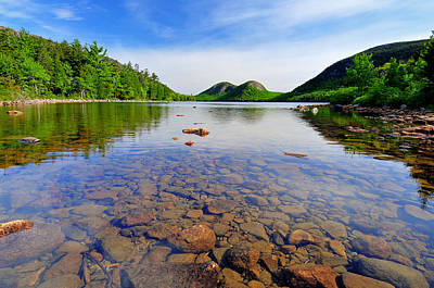 Photograph - Jordan Pond And The Bubbles by Expressive Landscapes Nature Photography