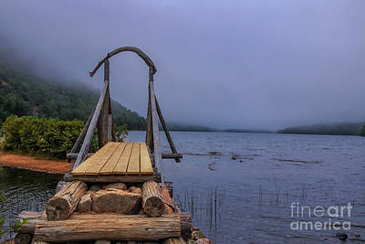 Photograph - Jordan Pond Bridge by Elizabeth Dow