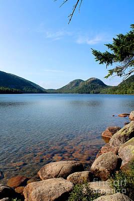 East Coast Photograph - Jordan Pond Bubbles by Kathleen Garman