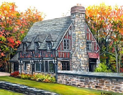 Jordan Pond Gate House Original by Eileen Patten Oliver