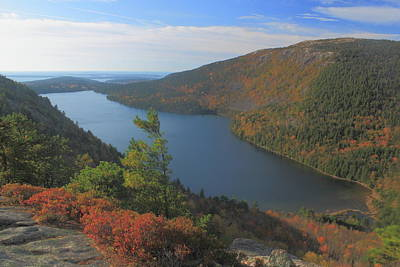 From The Kitchen - Jordan Pond in Autumn from North Bubble Acadia National Park by John Burk