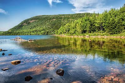 Photograph - Jordan Pond by John M Bailey
