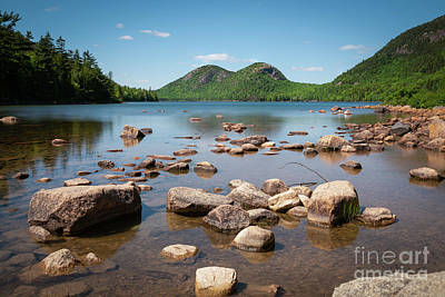 Photograph - Jordan Pond  by Michael Ver Sprill