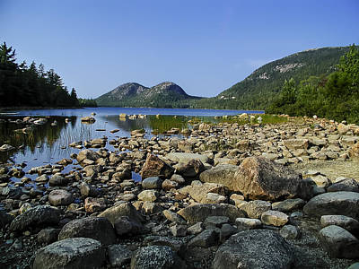Mark Myhaver Royalty-Free and Rights-Managed Images - Jordan Pond No.1 by Mark Myhaver