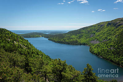 Photograph - Jordan Pond Overlook  by Michael Ver Sprill