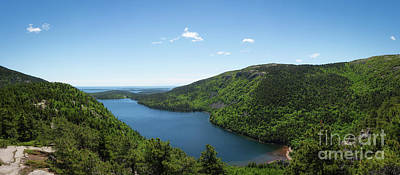 Photograph - Jordan Pond Overlook Panorama  by Michael Ver Sprill