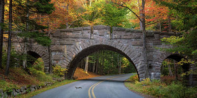 Photograph - Jordan Pond Road Bridge	 by Darylann Leonard Photography