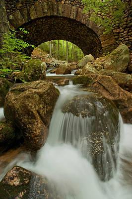 Jordan Stream Photograph - Jordan Pond Stream Carriage Bridge by Ed Lowe
