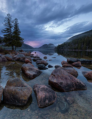 Photograph - Jordan Pond Sunset  by Patrick Downey