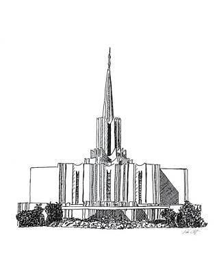 Jordan River Lds Temple Art Print by DSC Arts