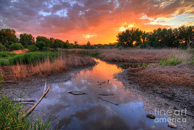 Photograph - Jordan River Parkway Sunset 1 by Spencer Baugh