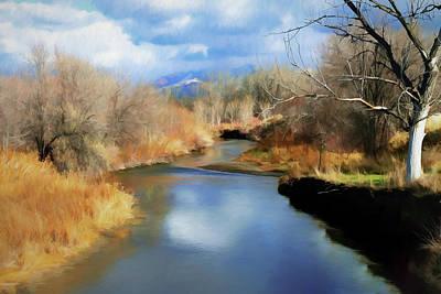 River Jordan Digital Art - Jordan River by Ronald Bolokofsky