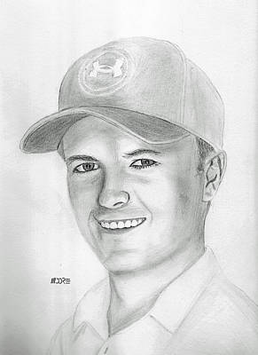 Drawing - Jordan Spieth by Pat Moore