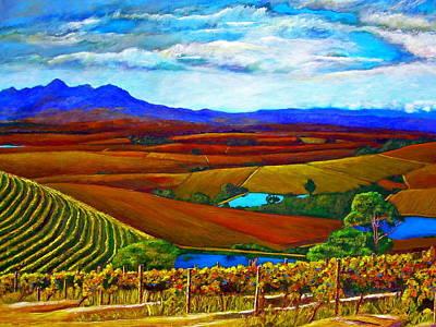 Impressionistic Vineyard Painting - Jordan Vineyard by Michael Durst