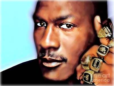 Michael Jordan Painting - Jordan by Wbk