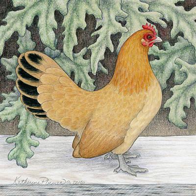 Leaf Drawing - Jordan's Marigold by Katherine Plumer