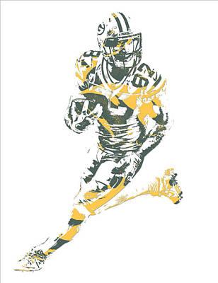 Mixed Media - Jordy Nelson Green Bay Packers Pixel Art 10 by Joe Hamilton