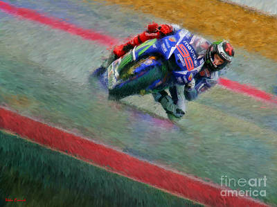 Photograph - Jorge Lorenzo Movistar Yamaha Motogp by Blake Richards