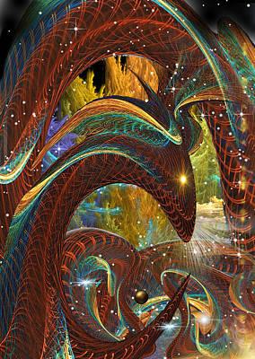 Jormungand... Midgard Serpent .... Part The Second Art Print