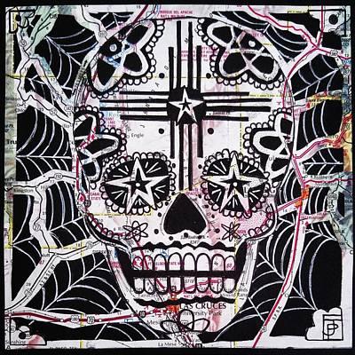 Sugar Skull Mixed Media - Jornada Del Muerto by John Parish