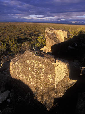Jornada Mogollon Petroglyph Site Human Art Print by Rich Reid