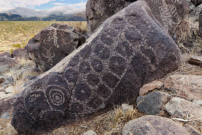 Photograph - Jornada Mogollon Petroglyphs In The Tularosa Basin  by Kathleen Bishop