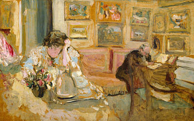 Painting - Jos And Lucie Hessel In The Small Salon, Rue De Rivoli  by Edouard Vuillard
