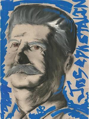 Communist Mixed Media - Jos3ph Stalin by Aidan Barrett