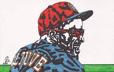 Drawing - Jose Altuve  by Jeremiah Colley