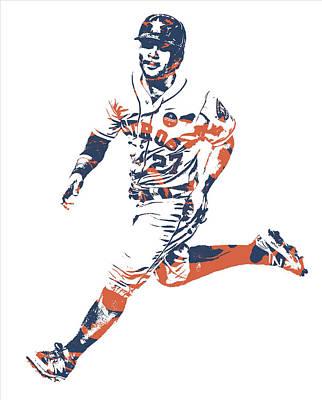 Jose Altuve Houston Astros Pixel Art 20 Art Print
