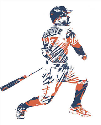 Jose Altuve Houston Astros Pixel Art 22 Art Print