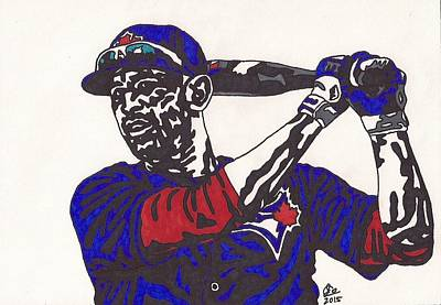 Drawing - Jose Bautista 1 by Jeremiah Colley