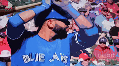 Digital Art - Jose Bautista by Nina Silver