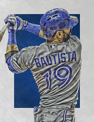 Jose Bautista Toronto Blue Jays Art 2 Art Print by Joe Hamilton