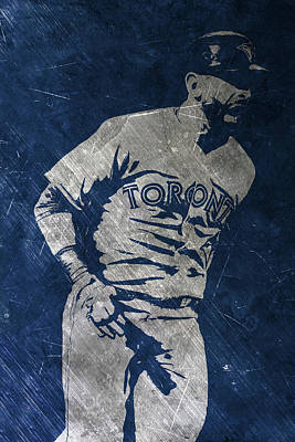 Blue Jay Painting - Jose Bautista Toronto Blue Jays Art by Joe Hamilton