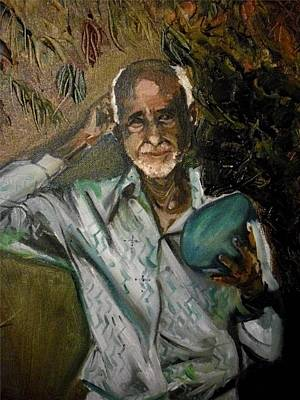 Painting - Jose Belarminio Vasquez by Yxia Olivares