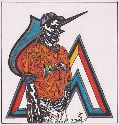 Drawing - Jose Fernandez by Jeremiah Colley