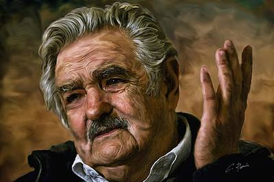 Digital Art - Jose Mujica by Charlie Roman